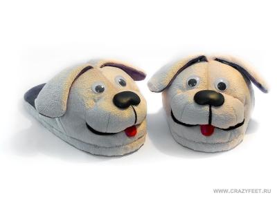 тапочки собачки Догги crazyfeet