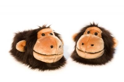 тапочки обезьянки,тапки обезьяны, обезьянки,символ года 2016, что подарить на 2016, подарок 2016,crazyfeet