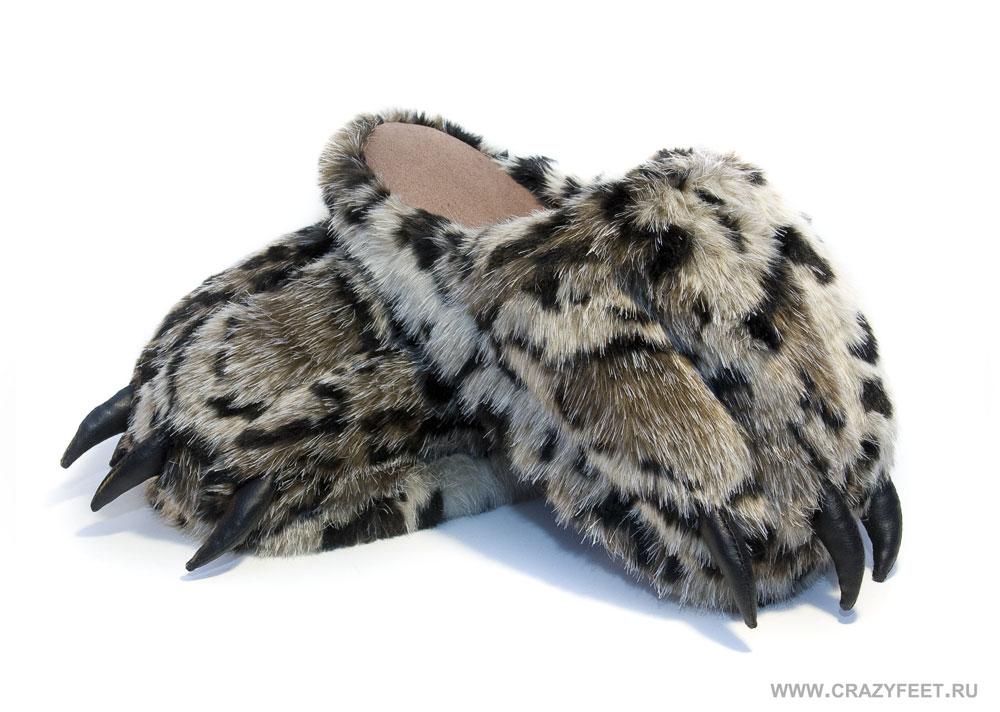 Тапочки лапы бурого Медведя - тапочки-игрушки CrazyFeet