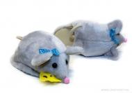 тапочки-игрушки мышки